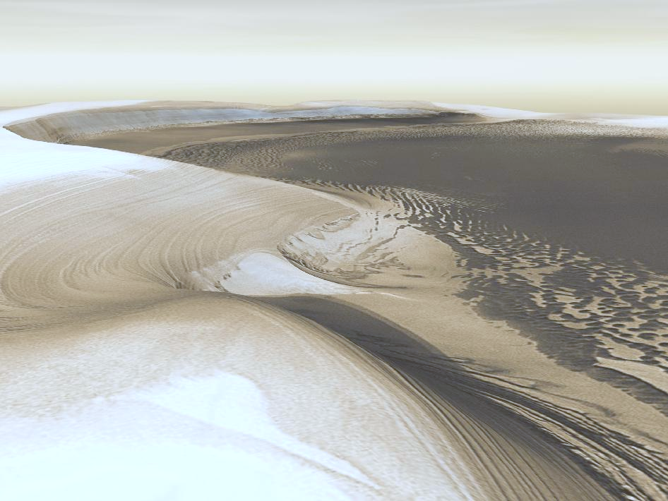 Chasma Boreale, the Martian Arctic (Orbiter photo mosaic)
