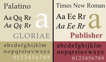 Fonts-Palatino-Times