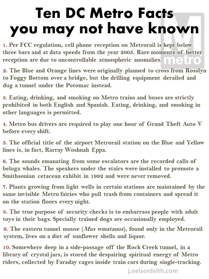 Ten DC Metro Facts