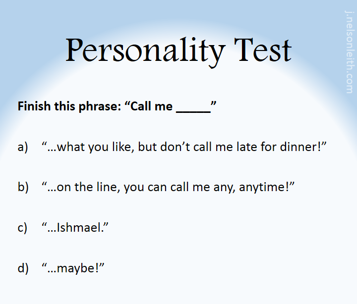 PersonalityTest-CallMe