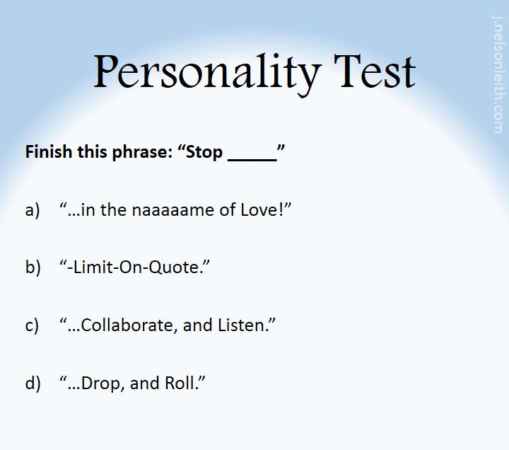 PersonalityTest-Stop