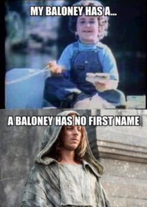 A BALONEY HAS NO NAME